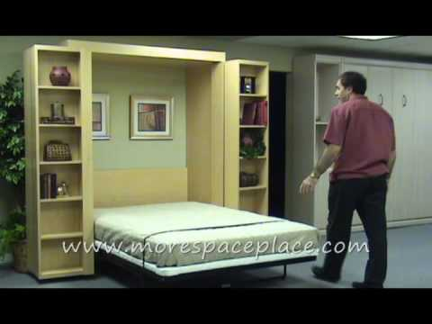 morespaceplace New Bifold Bookcase bed 0002