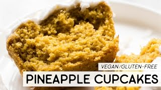 Pineapple Turmeric Cupcakes with Coconut Frosting {vegan & gf}