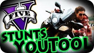 STUNTS YOUTOOL! É PARKOUR No GTA V Online! (GTA 5)