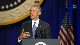 President Barack Obama's Full Farewell Speech 10/10/2017