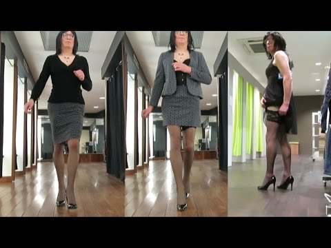 Outfits and high heels Shopping Tranvestite Crossdresser