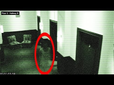 Ghost in Hotel on Halloween Caught of Security Camera 100 Real Found Video 12
