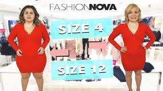 Size 4 & Size 12 Try On the Same Outfits from Fashion Nova!