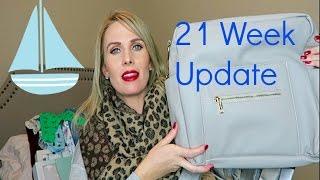 Diaperbag Review| Maternity Monday Week 21| CarlieStylez