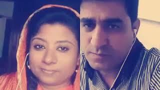Indian female singer singing live duet cover song Dill hom hom kre with pakistani singer kamran.