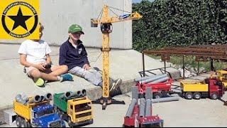 BRUDER TOYS Excavators Construction TRUCKS + DICKIE Giant Crane!