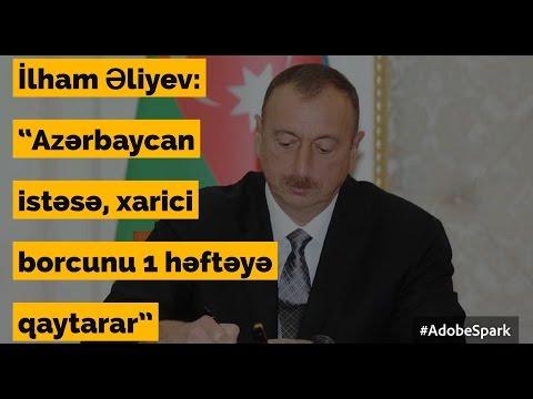 Azərbaycan xirtdəyə qədər borca girib Gündəlik xəbərlər 21.03.2017