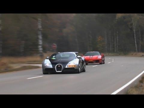 Bugatti Veyron vs. Ferrari F430 JDC - Racing at Closed track! 240+ KM/H