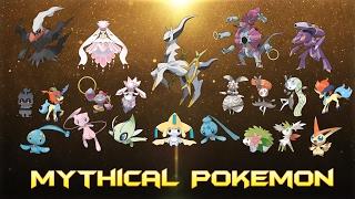 All Mythical Pokémon (Kanto - Alola)