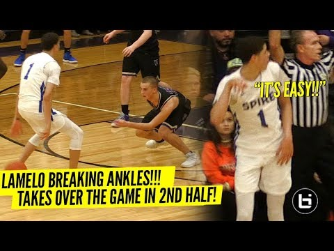 LaMelo Ball BREAKS Defender s ANKLES & Talks TRASH To Crowd Wins MVP Of Tournament In STYLE
