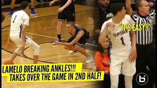 LaMelo Ball BREAKS Defender