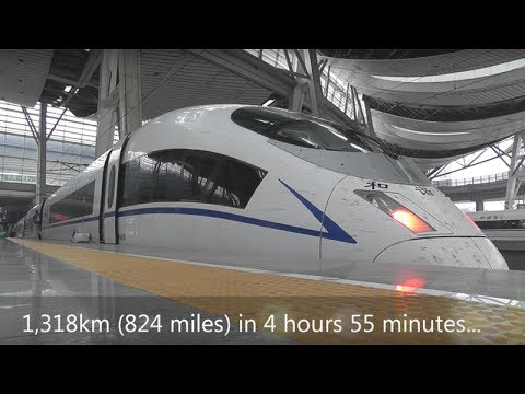 Shanghai to Beijing by high-speed train: