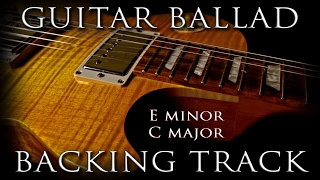 Instrumental Guitar Ballad Backing Track E minor G major