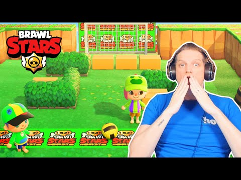 VISITE ÎLE DE Romain Dot Live et BRAWL STARS dans ANIMAL CROSSING NEW HORIZONS ACNH FR