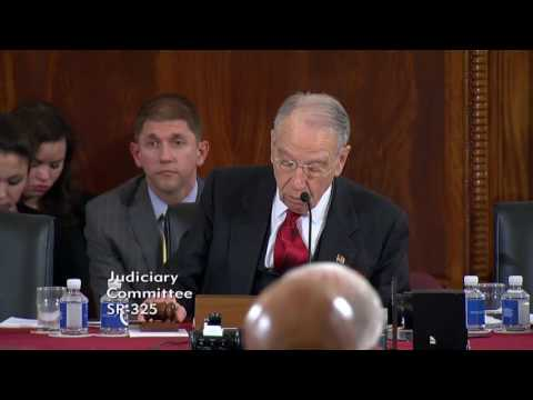 Grassley Questions Attorney General Nominee Sessions on Immigration Jobs