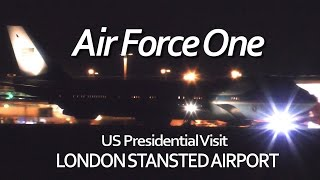 Air Force One Landing London Stansted Airport President Obama - Final Visit AF1 VC-25A Osprey