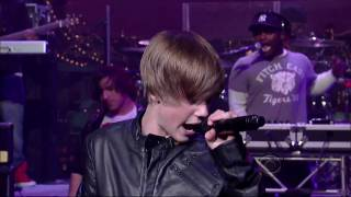 Justin Bieber sings Baby (David Letterman Live)