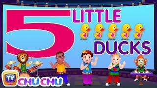 Five Little Ducks - Number Nursery Rhymes Karaoke Songs For Children | ChuChu TV Rock