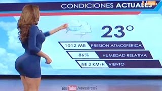 Hot Weather Reporter Shows Off Butt On TV - Yanet Garcia
