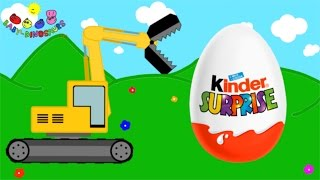 Surprise Eggs and Excavator | Dinosaurs for Children