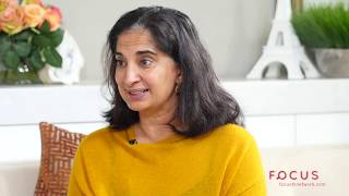 Mallika Chopra teaching kids how to meditate.