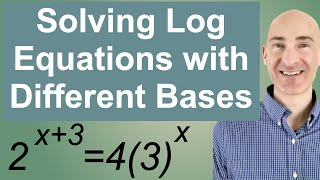 Solving (Challenging) Log Equations Different Bases