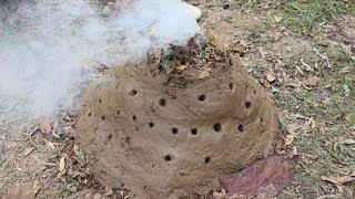 Primitive Technology: Make charcoal by primitive technology