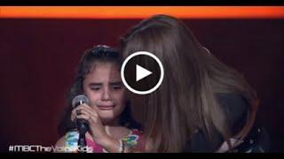 """غنى بو حمدان طفلة سورية بكت وأبكت لجنة تحكيم ذا فويس كيدز بأغنية """"أعطونا الطفولة"""""""
