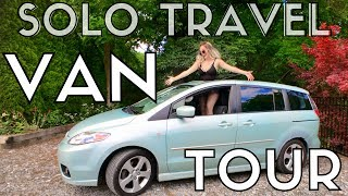 OFFICIAL VAN TOUR!!!!! Living in my Mazda5 [MTV Cribs style]