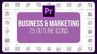 Business And Marketing - 25 Outline Animated Motion Graphics Templates