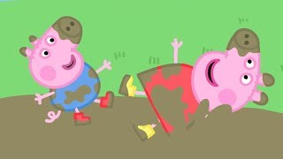 Peppa Pig Episodes in 4K | Peppa's Muddy Puddle Compilation! | Cartoons for Children