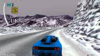 Need For Speed 2 - Mystic Peaks going off the track [PS1]