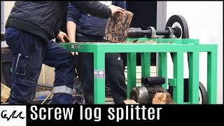 Screw log splitter