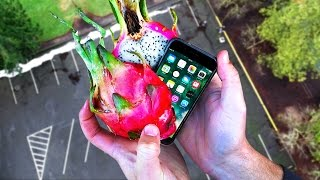 Can Dragon Fruit Protect iPhone 7 from 100 FT Drop Test?