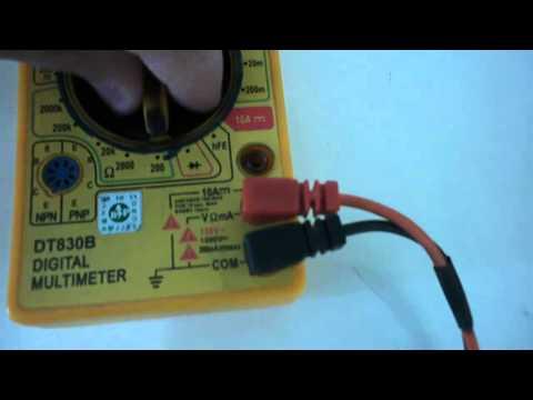 Multímetro medindo resistores como medir resistores potenciometro no multimetro
