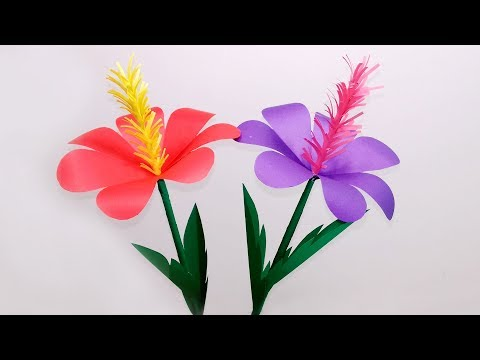 Xxx Mp4 DIY Stick Flower Making With Color Paper Stick Paper Flower For Home DecorJarine39s Crafty Creation 3gp Sex