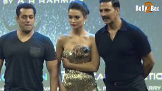 Amy Jackson in a Glittering Gold Designer Gown At Robot 2.0 First Look Launch | Bolly2Box