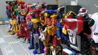 Power Rangers SPD Ninja Steel RPM Dino Charge Super Megaforce Megazord Toys 파워레인저 로봇 장난감 변신