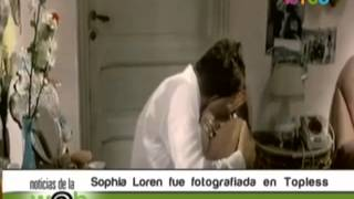 Sophia Loren fue fotografiada en topless 480p