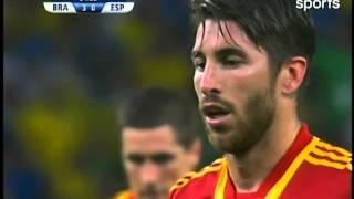 Sergio Ramos botó un tiro penal en la final de la Copa Confederaciones