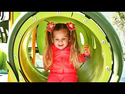 Xxx Mp4 Little Girl Diana Have Fun Playing On The Outdoor Playground Kids Video 3gp Sex