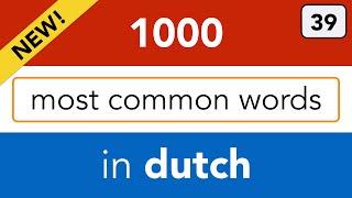 Nederlands leren - lesson 39 - Left over words