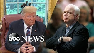 Trump breaks his silence on John McCain