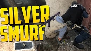 FUNNY SILVER RANK SMURF! - CS GO Funny Moments in Competitive