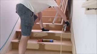 Staircase stringers, risers, and treads (timelapse)