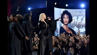 Audience goes CRAZY over Christina Aguilera's Whitney Houston tribute