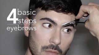 4 Basic Steps - Men's Eyebrows