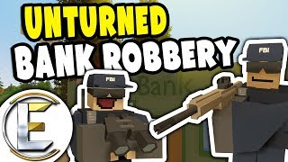 Stop a Bank Robbery | Unturned FBI Agent RP - Steakout and Spy on a Gangs Planned Heist (Roleplay)