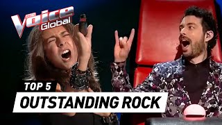 OUTSTANDING ROCK 🤟 AUDITIONS in The Voice Kids