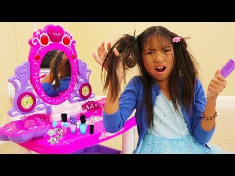 Xxx Mp4 Wendy Pretend Play Fun PRINCESS Dress Up And Makeup Kids Toys For Girls 3gp Sex